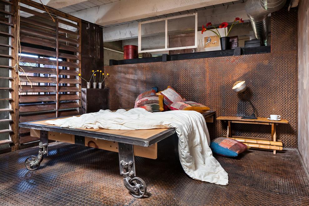 Chambre style loft industriel