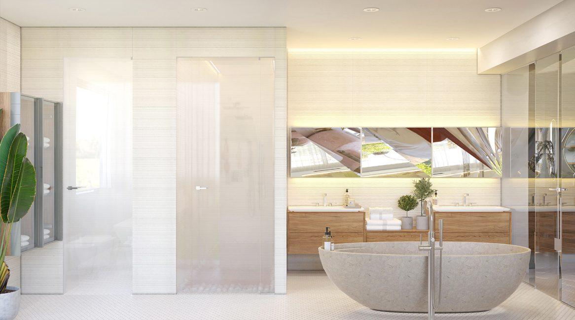 дизайн ванной в современном стиле загородный дом
