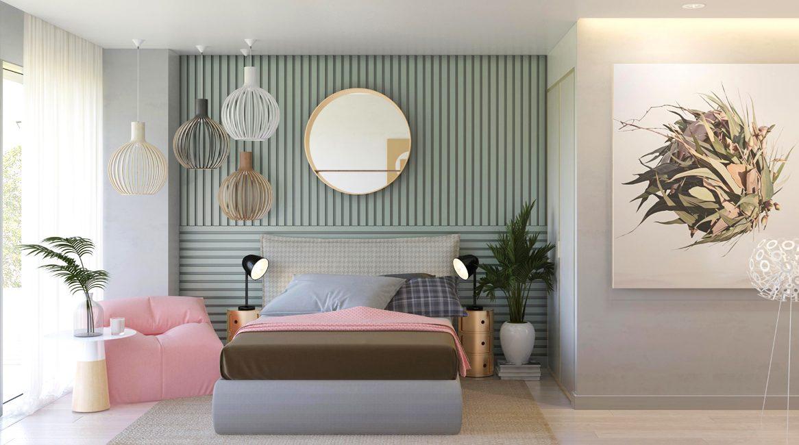 дизайн спальни в современном стиле загородный дом